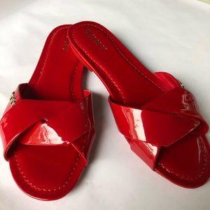 DKNY Patent Leather Slides